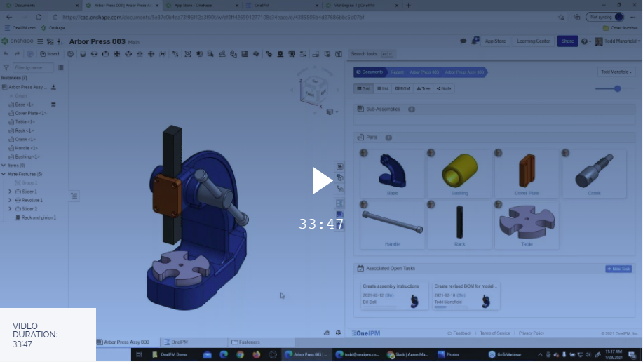 OneIPM Webinar Hosted by Onshape